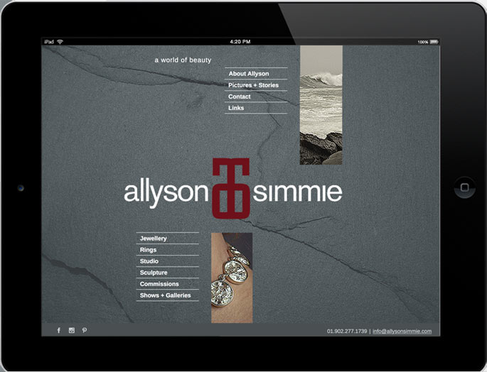 Photo - Tablet view of allysonsimmie.ca